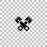 Tj?nste- symbolsl?genhet f?r automatisk royaltyfri illustrationer