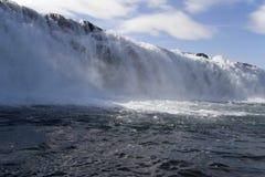 Tjaldsvaedi waterfall Royalty Free Stock Photo