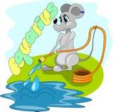 Tjalla med hästen och vatten vektor illustrationer