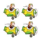 Tjalla piloten Animation Sprite Arkivbilder