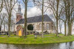 TJAMSWEER, NETHERLANDS - JANUARY 12, 2016: Protestant church Royalty Free Stock Image