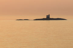 Tjarven lighthouse Aeland Sea Royalty Free Stock Images