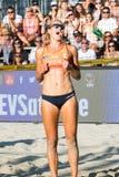 Tjasa Kotnik van Slovenië die een punt vieren Stock Foto
