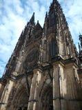 tjeck Den storstads- domkyrkan av helgon Vitus, Wenceslaus och Adalbert Fotografering för Bildbyråer