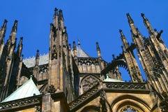Tjeckien för domkyrka för Prague slott Arkivfoto