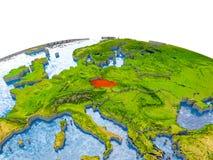 Tjeckien på modell av jord Royaltyfri Fotografi
