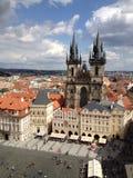 Tjeckien Prague, gammal stad Arkivfoto
