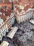 Tjeckien Prague, gammal stadfyrkant Royaltyfria Foton