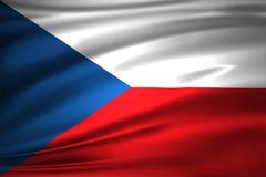 Tjeckienflaggaillustration stock illustrationer