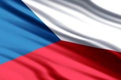 Tjeckienflaggaillustration vektor illustrationer