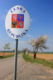 Tjeckiengräns Arkivbild