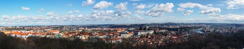 TjeckienPrague panorama Arkivbilder