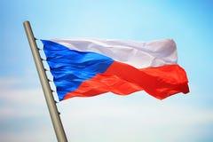 tjeckisk flagga Royaltyfri Fotografi