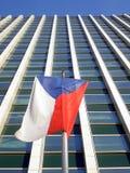 tjeckisk flagga Fotografering för Bildbyråer