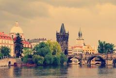 tjeckisk gammal prague republiktown Royaltyfria Bilder