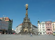 tjeckisk gata för livstidsolomoucrepublik Arkivfoto