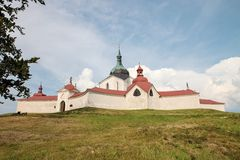 tjeckisk hora nad nära zdar zelena för republiksazavou royaltyfria bilder