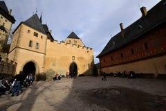 tjeckisk karlstejnrepublik för slott fotografering för bildbyråer