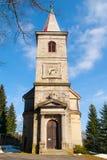Tjeckisk kristen kyrka arkivfoto