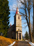 Tjeckisk kristen kyrka arkivbild