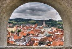 tjeckisk krumlov Fotografering för Bildbyråer
