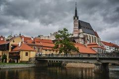 tjeckisk krumlov royaltyfri bild
