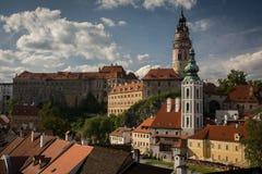 tjeckisk krumlov royaltyfri fotografi