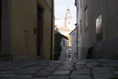 tjeckisk krumlov Arkivbilder