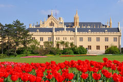 tjeckisk lednicerepublik för slott Royaltyfri Fotografi