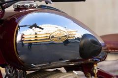 Tjeckisk motorcykel Jawa 500 OHC från år 1952-1958 Fotografering för Bildbyråer