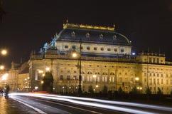 tjeckisk nationell teater Arkivbilder