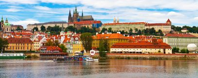 tjeckisk panoramaprague republik Royaltyfria Bilder