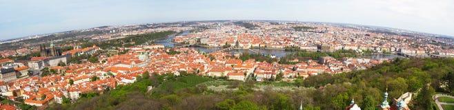 tjeckisk panoramaprague republik Arkivbilder