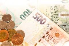 Tjeckisk pengarnärbild på royaltyfri bild