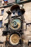tjeckisk prague för astronomical klockor tekniker Arkivfoto