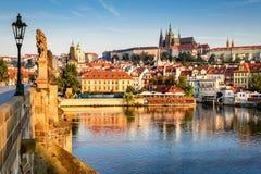 tjeckisk prague för slott republik Arkivbild