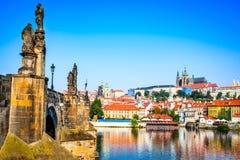 tjeckisk prague för slott republik Fotografering för Bildbyråer