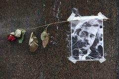 Tjeckisk president Vaclav Havel för stående på senare royaltyfri bild