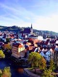 Tjeckisk provinsiell stad arkivfoton
