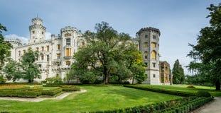 Tjeckisk slott Hluboka Arkivbilder