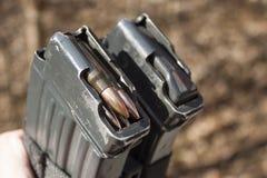 Tjeckisk tidskriftvz gevär för anfall 58 med ammunitionar 7 mm 62 Royaltyfri Fotografi