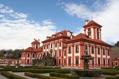 tjeckisk troja för slottprague republik Arkivfoto