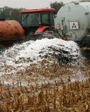 tjeckiska bönder mjölkar protest Royaltyfria Bilder