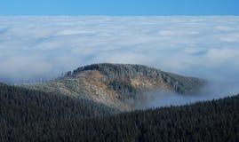 Tjeckiska berg, inversion II Arkivfoto