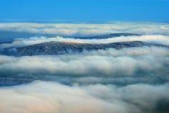 Tjeckiska berg VI , inversion Arkivfoton