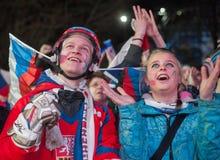 Tjeckiska fans Arkivfoton
