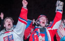 Tjeckiska fans Arkivbilder