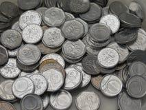 Tjeckiska korunas myntar Arkivbild