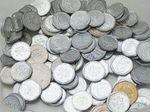 Tjeckiska korunas myntar Arkivbilder