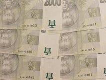 2000 tjeckiska korunasedlar Arkivfoton